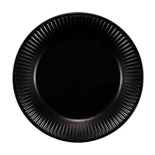 Bodum 11816-259 DOURO 4 Dessertteller, ø 18 cm, Porzellan, Schwarz