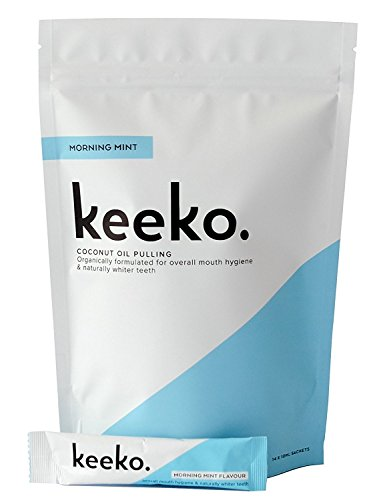 Keeko - Natural/Organic Oil Pulling Sachets (Morning Mint) (14 Packets (2 Week Course))