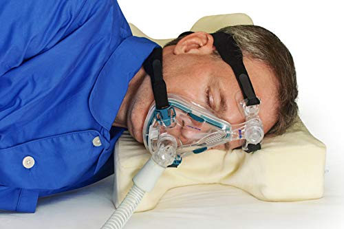 TruContour CPAP Pillow for Side Sleepers - Adjustable Height Memory Foam - Cutouts Reduce Mask Pressure & Leaks