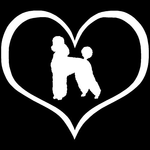 MCTYLI 10.9 * 9.5CM poedel puppy hond hart venster glas decoratie auto motorfiets Stickers mode dier auto Styling Decal