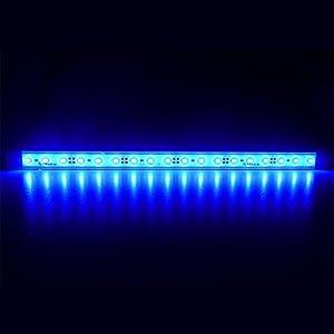 LTRGBW-5730-SMD-12V-DC-18-LED-super-helle-Aquarium-LED-Streifen-Lichter-wasserdichte-Flut-Licht-Stab-Aluminium-LED-Linear-Beleuchtung-Kabinett-LED-Bar-LampeBlue