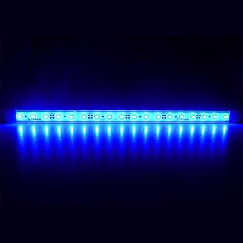 LTRGBW 5730 SMD 12V DC 18 LED super heldere aquarium LED-strip lichten waterdicht schijnwerper aluminium LED lineaire verlichting - kastje LED-bar lamp (blauw) 30CM Blue blauw