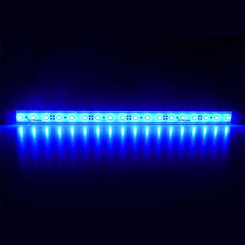 LTRGBW 5730 SMD 12V DC 7.2W 18LED super helle Blaue Aquarium LED-Streifen-Lichter wasserdichte Flut-Licht-Stab-Aluminium LED Linear Beleuchtung - Kabinett LED-Bar-Lampe (30 cm)