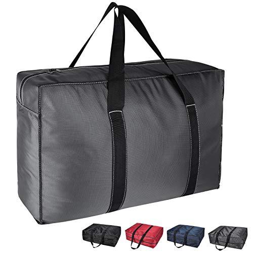 Okehom Borsa porta abiti con cerniera, a prova di umidità, da mettere sotto il letto, colore grigio scuro, 130 l, XL