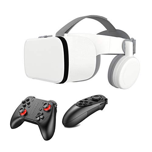 GYAM VR-Headset Mit Fernbedienung | 3D VR (Virtual Reality) Headset Für VR-Spiele Und 3D-Filme | 110 ° FOV Anti-Blaulicht-Augenschutz HD Virtual Reality Headset,A