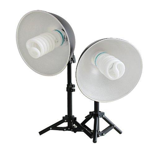 RPGT® Mini Studiolampen-Set mit Stativen, Schirm und Leuchten