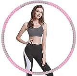 LUOWAN Hula Hoop,6 Secciones Professional Hula Hoop Desmontable, Material de Acero Inoxidable,Puede Perder Peso y Hacer Ejercicio, Adecuado para Fitness, Gimnasia(Rosa)