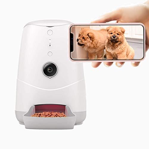 Momo's Choice Distributore automatico intelligente per gatti e cani con Videocamera incorporata HD voce bidirezionale con APP, Visione notturna e HD grandangolare da 120 gradi
