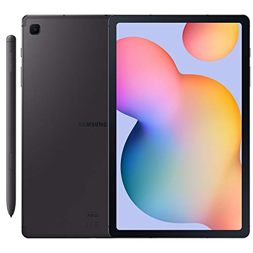 Samsung Galaxy Tab S6 Lite w/S Pen (64GB, WiFi + Cellular) 4G LTE Tablet & Phone (Makes Calls) GSM Unlocked SM-P615, International Model (Oxford Gray)