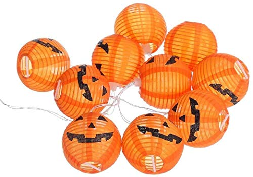 ZBM-ZBM Halloween Pumpkin Lights Bar Mall Sfeer Jurk 10LED String Lights Lichtgevende Pompoen Decoraties Props sprookjes lichten