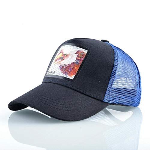 JKFXMN Aback Hat Männer Baseball Caps Mit Streetwear Hip Hop Trucker Cap Frauen Outdoor Atmungsaktive Mesh Visier Hüte, Dunkelblauer Adler