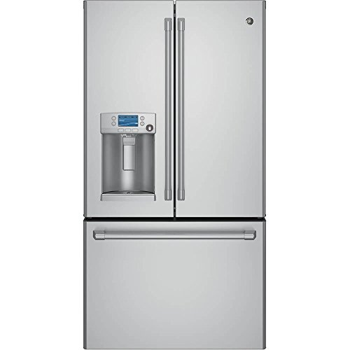 Price comparison product image GE CYE22TSHSS Cafe 22.1 Cu. Ft. Stainless Steel Counter Depth French Door Refrigerator - Energy Star