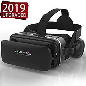 VR Headset,Virtual Reality Headset,VR SHINECON 3D Glasses for Movies, Video,Games - VirtuReality Glasses VR Goggles for iPhone, Android and Other Phones Within 4.7-6.2 inch