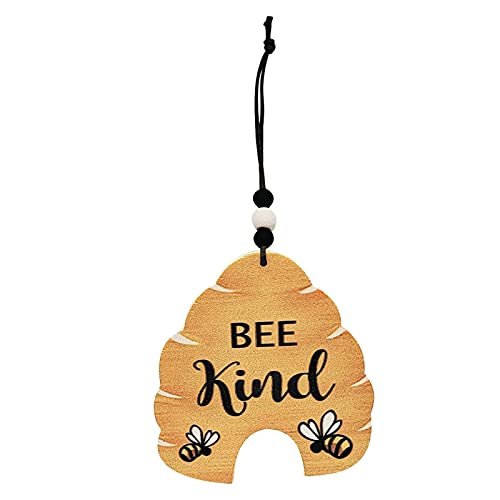 Wall Hanging Ornament Biene Hölzern Garten Wand Dekoration Biene Dekoration Wabenhonig Cartoon Muster Outdoor Zaun Kunst Außen Hängen Dekorationen Für Wohnzimmer Schlafzimmer Bauernhaus Hausgarten