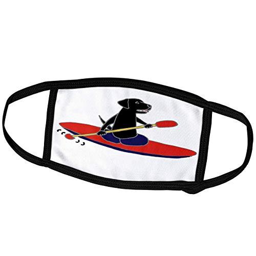 Promini - Máscara para el mes – All Smiles Art Pets – Divertido perro labrador Retriever es kayak – Máscara antipolvo para exteriores