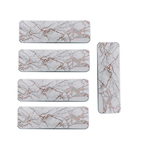 YOURAN Juego de 5 manteles individuales con diatomeas de mármol, absorbentes de secado rápido para jabón de secado rápido. Posavasos de diatomeas