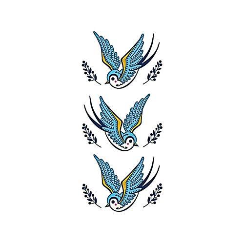 PMSMT Umweltfreundliche wasserdichte Persönlichkeit Kleine frische Tattoo Aufkleber Farbe Vogel niedlich Mode Tattoo Muster Farbe wasserdicht Tattoo