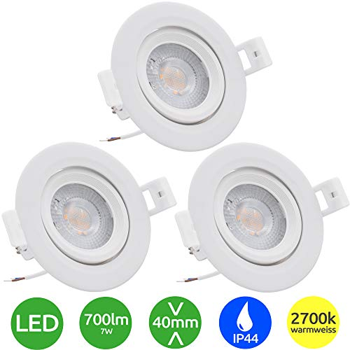 3x Evolution Foco empotrable LED 7W 770lm Proyector