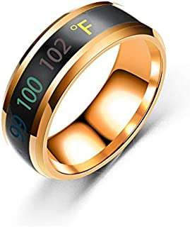 Temperature Ring Titanium Steel S-mart Temperature Sensitive Ring, Waterproof Jewelry For Women And Men Rings, jewelry, de...