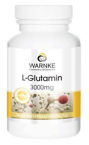 L–Glutamina en cápsulas – Glutamina pura – Vegana – 120 cápsulas