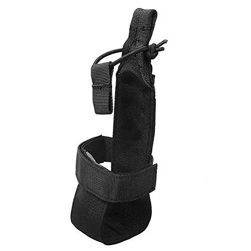 STARE89 Bolsa táctica para botella de agua Molle Sport botella de agua portabotellas soporte de nailon cinturón para deportes al aire libre senderismo ciclismo senderismo, negro, Tamaño libre