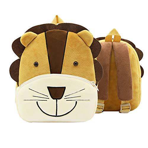 JUNGEN zaino animali bambini peluche zaino animali cartone animato zaino asilo bambini borse a tracolla (Leone)
