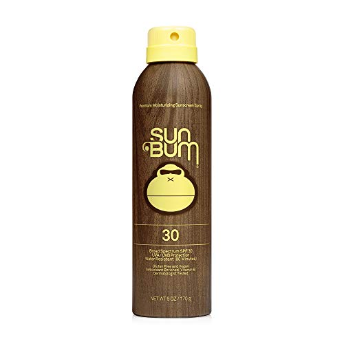 Sun Bum Original SPF 30 Sunscreen Spray I Vegan and Reef Friendly (Octinoxate & Oxybenzone Free) Broad Spectrum Moisturizing UVA/UVB Sunscreen with Vitamin E I 6 oz