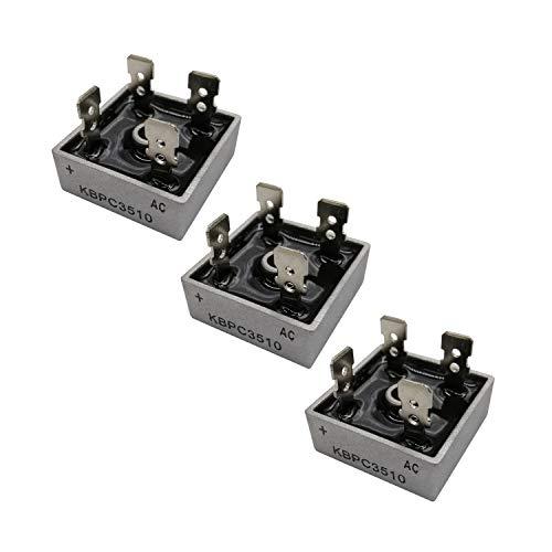 HUABAN 3PCS KBPC3510 Diodo rectificador de puente de silicio 35A 1000V KBPC Onda completa monofásica 35 Amp 1000 Volt