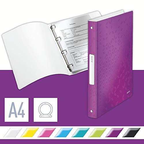 Leitz 42580062 Ringbuch WOW, A4, PP, 4 Ringe, 25 mm, violett