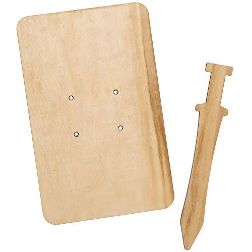Baker Ross Römische Zenturio Holz Schwerter & Schilde, für Kunsthandwerksprojekte für Kinder (Packung mit 2)
