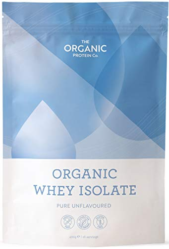 Organic Whey Protein Isolate Powder - Grass Fed, Additive Free, Gluten Free (400 Grams) (1)