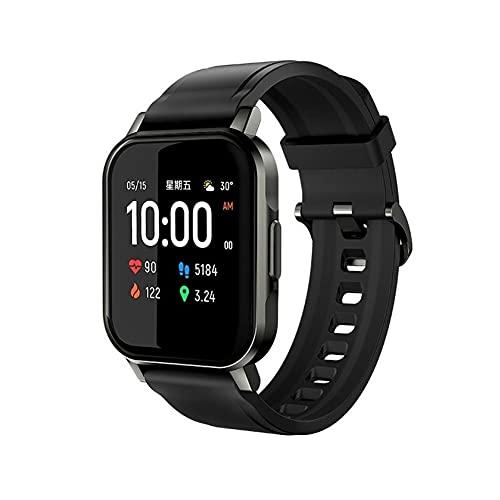 TAIJU Reloj inteligente para teléfonos Android y teléfonos iOS, mini reloj inteligente solar, 12 modelos deportivos, Bluetooth 5.0 deportes monitor de ritmo cardíaco, reloj de hombre