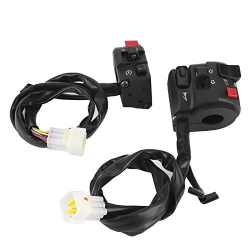 Interruptor de manillar anticorrosión resistente al agua negro resistente 7/8 pulgadas para pieza de repuesto para motocicleta