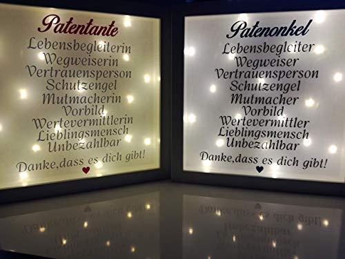 Beleuchteter Bilderrahmen Familie Geschenk Patentante Patenonkel