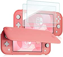 ProCase Nintendo Switch Lite Flip Cover with 2 Pack Tempered Glass Screen Protectors, Slim Protective Flip Case with...