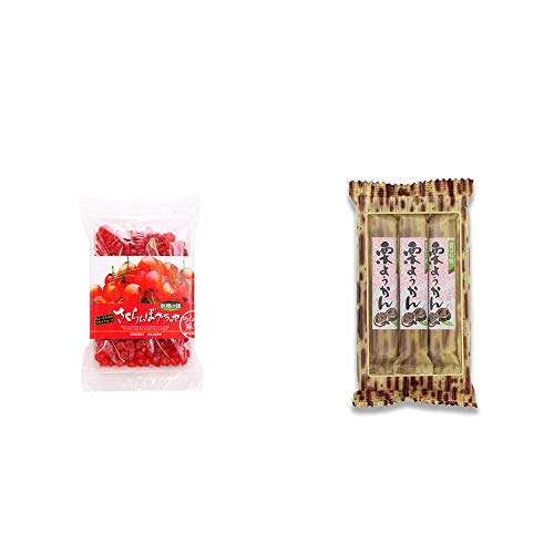 [2点セット] 収穫の朝 さくらんぼグラッセ ラム酒風味(180g)・スティックようかん[栗](50g×3本)