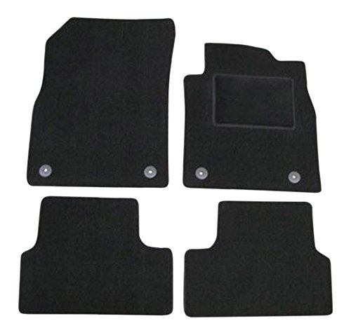 Fully Tailored Deluxe Car Mats in Black. 310mm