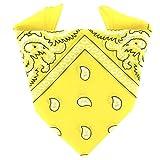 ...KARL LOVEN Bandana Jaune 100% Coton Paisley Foulard Fichu Bandeau Tour de Cou Tête Echarpe Pastel Bracelet Homme Femme Enfant