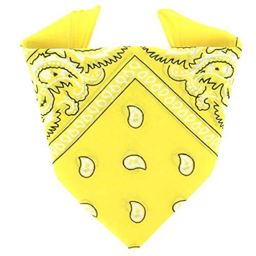 ...KARL LOVEN Bandane 100% cotone per donna uomo Bambini fazzoletto da collo bandana Giallo originale motivo paisley copricapo sciarpa per capelli collo polso testa cravatta motociclista