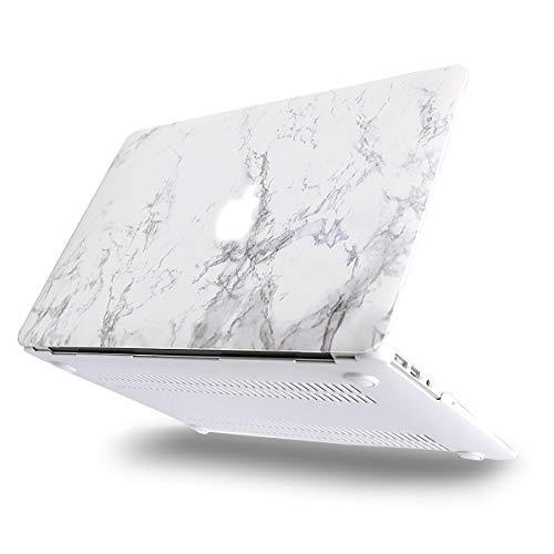 MOSISO Hülle Kompatibel mit MacBook Air 13 - Ultra Slim Plastik Matt Hartschale Case mit Muster Kompatibel mit MacBook Air 13 Zoll (A1369 / A1466, 2010-2017 Version), Weiß Marmor