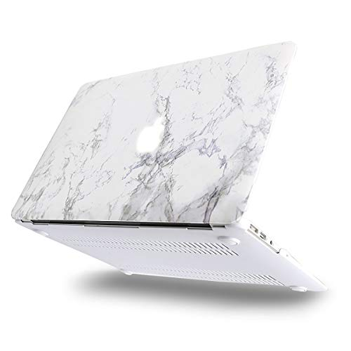 MOSISO Hard Case Compatible with MacBook Air 13 inch Model A1369 / A1466 (Release 2010-2017 Older Version), Ultra Slim Pattern Plastic Protective Snap On Shell Cover, White Marble