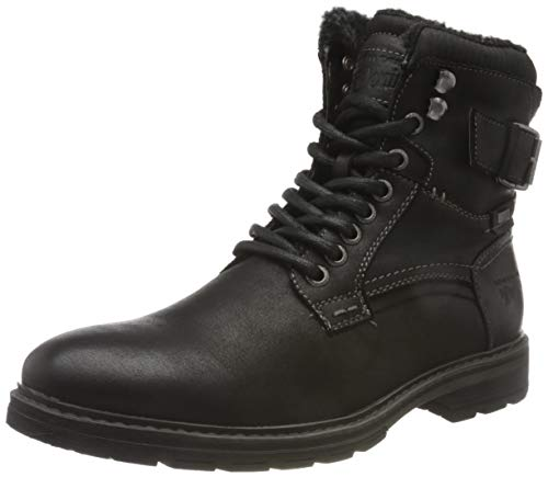 Tom Tailor Mens 9085607 Mid Calf Boot Bootie Boot, Black, 44 EU