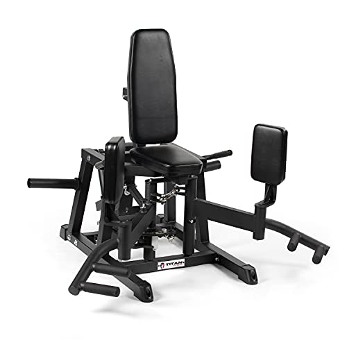 Titan Fitness Plate-Loaded Hip Abductor and Adductor Exercise Machine, Combo Inner Outer Thigh Stabilizer Machine