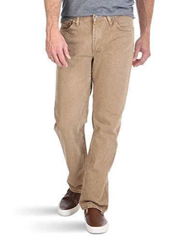 Wrangler Authentics Men's Classic 5-Pocket Regular Fit Cotton Jean, Khaki, 36W x 32L