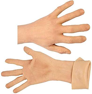 ZRB Silicone Man Gloves Fake Hand Model Realistic Male Hand for Crossdresser Transvestite Transgender