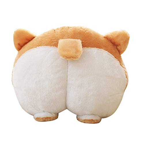 VEEKI Corgi Butt Pillow, Plush Dog Toy Travel Pillow with Cute Animal Appearance, Using as Cushion Pillow, Soft Toys Doll, Sofa Bedroom and Car Decoration, Birthday Gift and Many Other Purposes