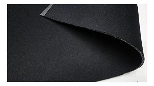 Fabrics de City Negro/Negro 3mm Neopreno Elástico de imitación plástico Double Face Neopreno plástico policíclicos, 3202