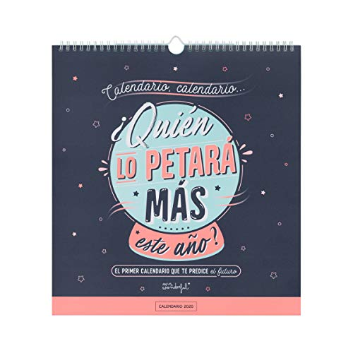 Mr. Wonderful WOA09847ES, Calendario de Pared 2020, Talla Única, Azul