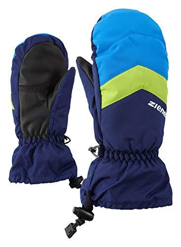 Ziener Kinder LETTERO AS MITTEN glove junior Ski-handschuhe / Wintersport | wasserdicht, atmungsaktiv, blau (navy), 7.5