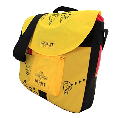BAG TO LIFE Messenger Bag CRUISE BAG Umhängetasche UNIKAT Gepäckträger Fahrradtasche